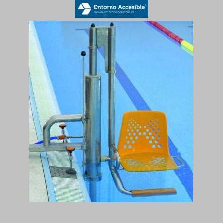 Elevadores acu ticos entorno accesible elevador for Escaleras de piscinas para personas mayores