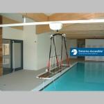 Grúa techo piscina