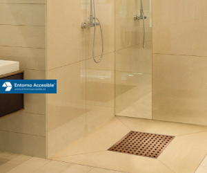 Plato de ducha de obra entorno accesible - Suelos antideslizantes para duchas ...