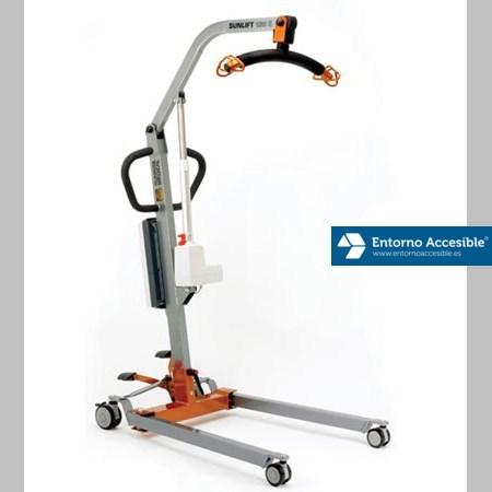 Grúa móvil para movilización, elevación y traslado de pacientes